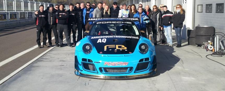 Glauco Solieri e il team Krypton Motorsportal assieme al via della EuroGTSprint 2014