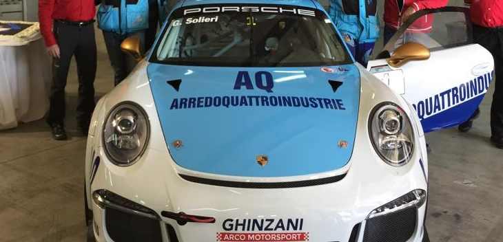 Glauco Solieri conferma la propria partecipazione al mondiale Porsche Mobil 1 Supercup con una nuovissima Porsche 991 preparata dal prestigioso team italiano Ghinzani Arco Motorsport.